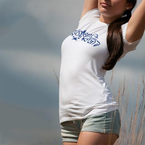 Damen T-Shirt Küstenkind-weiss