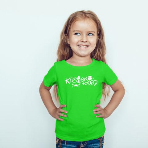 Kindershirt – Küstenkind Fischmotiv grün