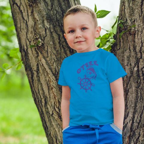 Kindershirt Piratenmotiv mit Ostseeschriftzug