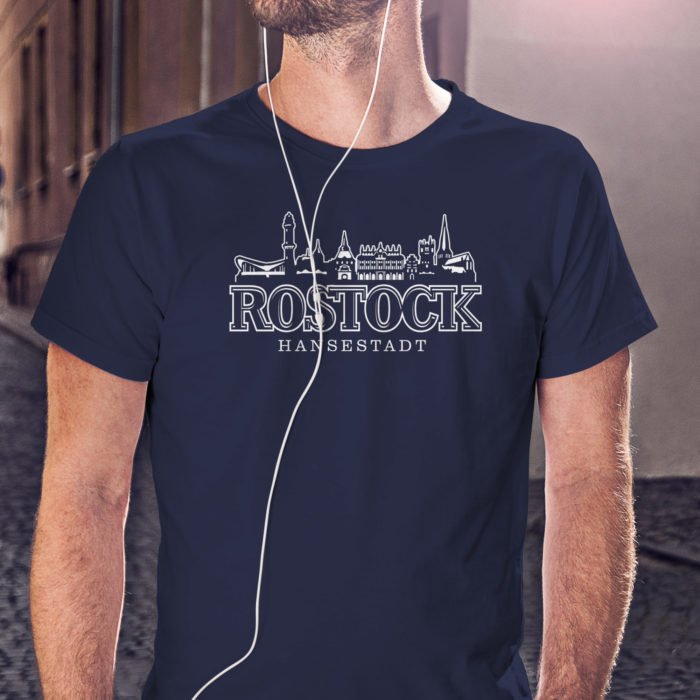 Shirt mit Rostocker Skyline