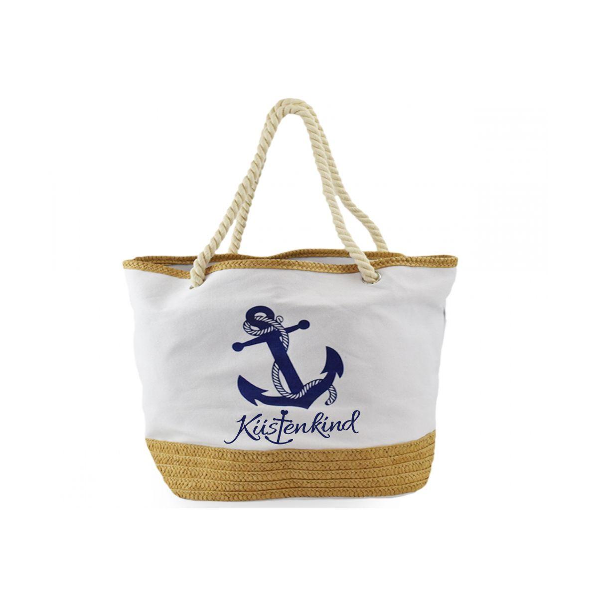 Strandtasche groß mit Reißverschluss - Küstenkind voll im ...