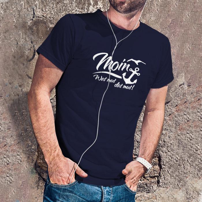 T-Shirt - moin - wat mut dat mut