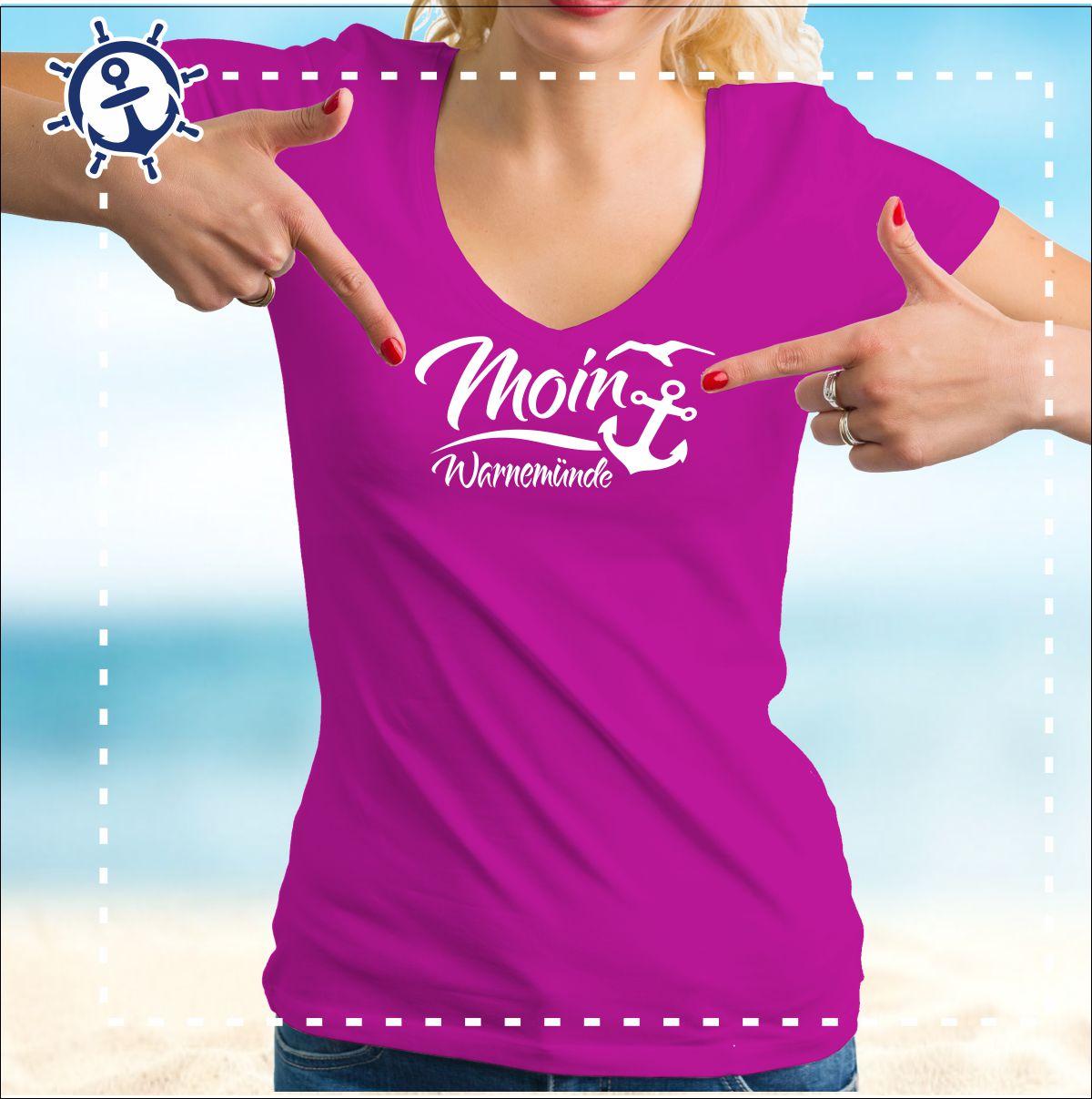d1880c1e0057fb ⚓ Damenshirt – Moin Warnemünde für Frauen – Jetzt im fischkopp.shop ⚓