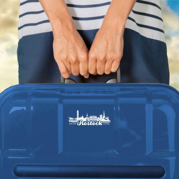 Aufkleber Rostock Skyline Laptoptasche