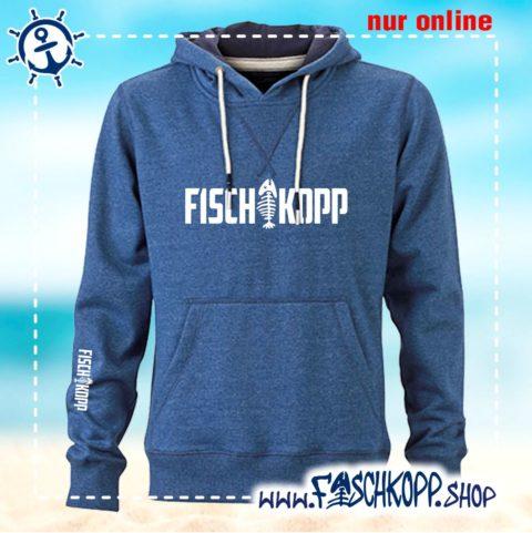 Kapuzen Shirt Fischkopp navy meliert vorne