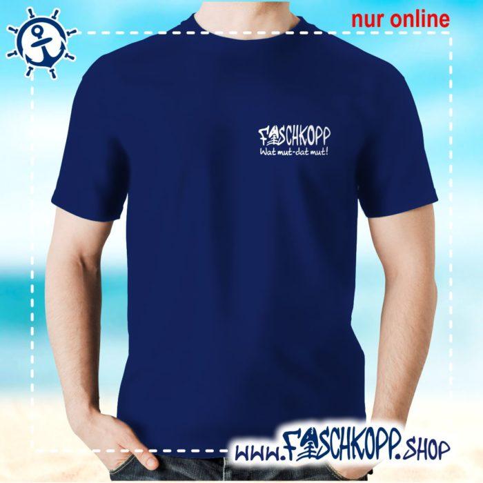 Fischkopp T-Shirt 2016 Druck klein navy