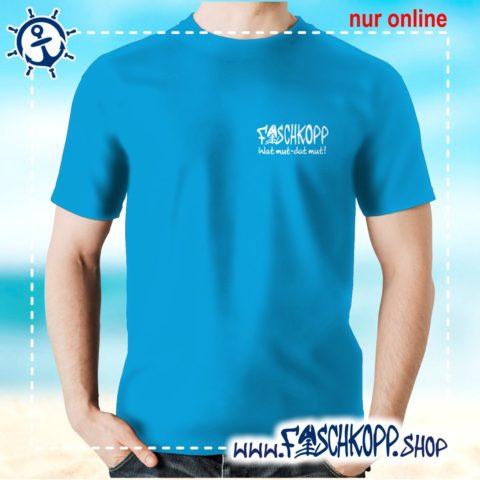 Fischkopp T-Shirt 2016 Druck klein atoll-blau