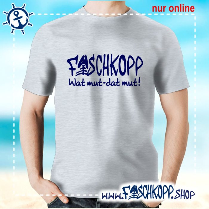 Fischkopp T-Shirt 2016 grau meliert