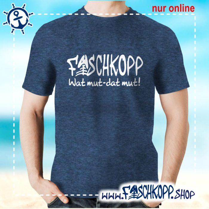Fischkopp T-Shirt 2016 navy meliert