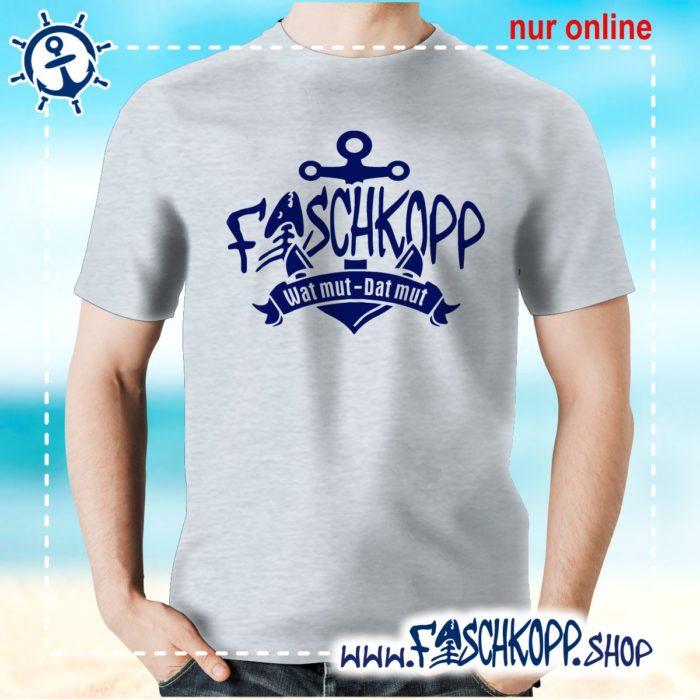 Fischkopp T-Shirt 2017 grau meliert