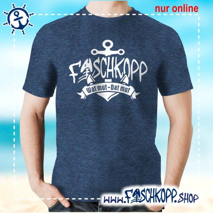 Fischkopp T-Shirt 2017 navy meliert