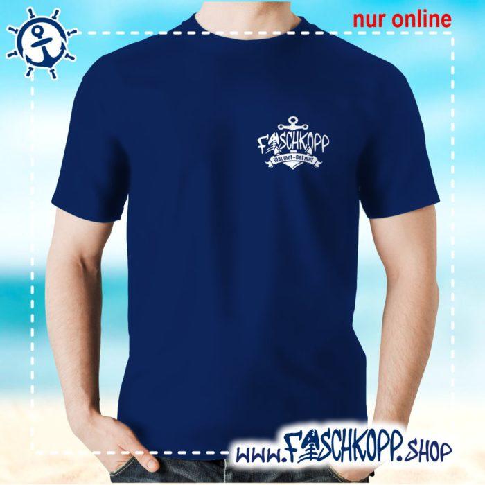 Fischkopp T-Shirt 2017 Druck klein navy