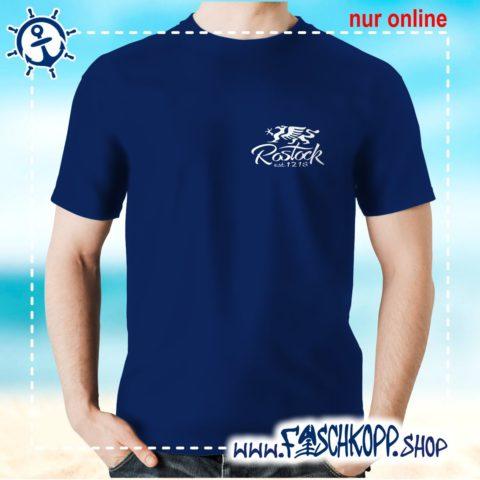 Fischkopp T-Shirt Rostock 1218 Druck klein navy
