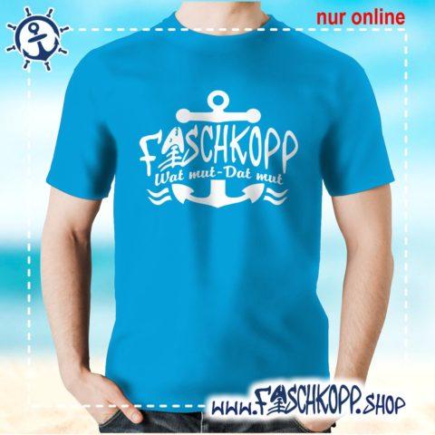 Fischkopp T-Shirt 2018 atoll-blau