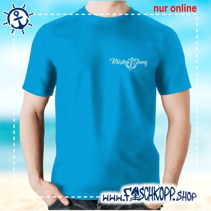 Kultshirt Küstenjung klein T-Shirt atoll-blau