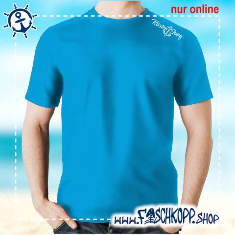 Kultshirt Küstenjung Schulterdruck T-Shirt atoll-blau