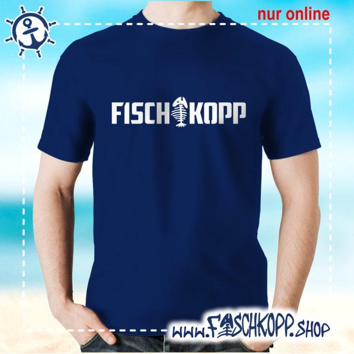 T-Shirt Fischkopp Gräte navy
