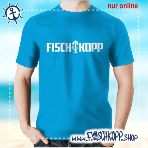 T-Shirt Fischkopp Gräte atoll-blau