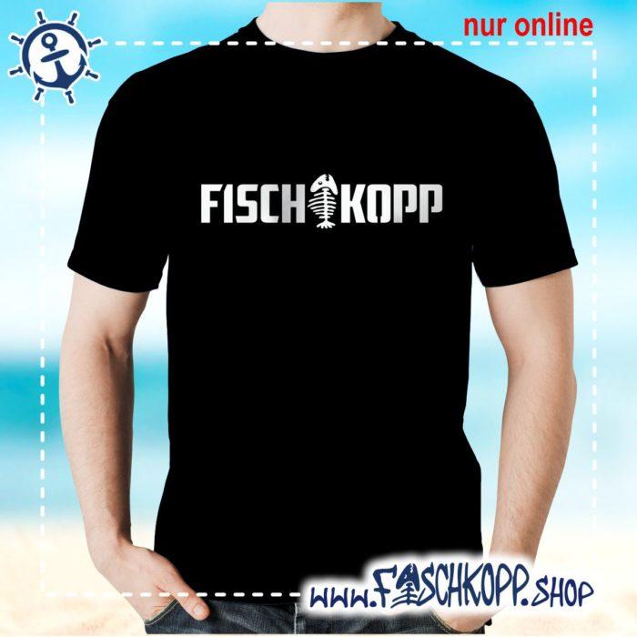 T-Shirt Fischkopp Gräte schwarz