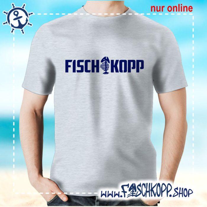 T-Shirt Fischkopp Gräte grau meliert
