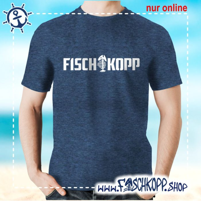 T-Shirt Fischkopp Gräte navy meliert