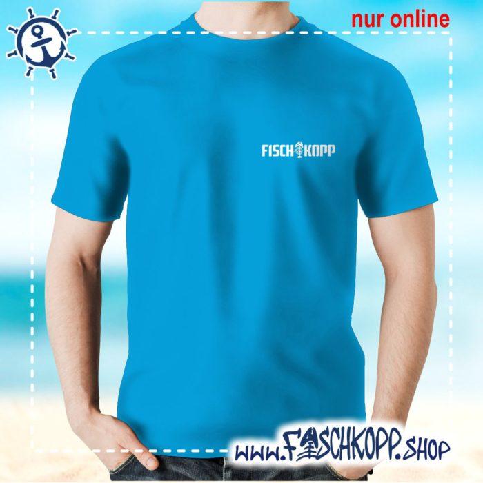 T-Shirt Fischkopp Gräte klein atoll-blau