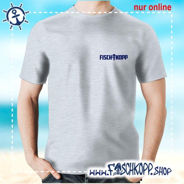 T-Shirt Fischkopp Gräte klein grau meliert
