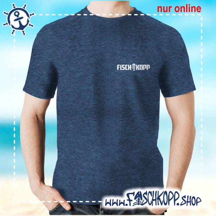T-Shirt Fischkopp Gräte klein navy meliert