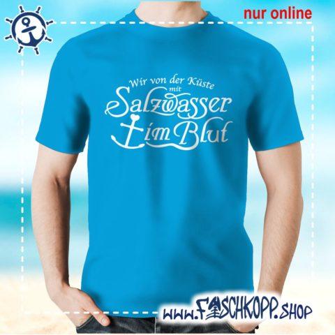 T-Shirt Salzwasser im Blut atoll-blau