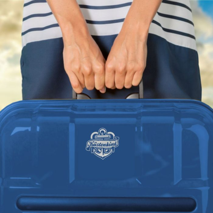 Aufkleber Küstenkind Ankerband Koffer
