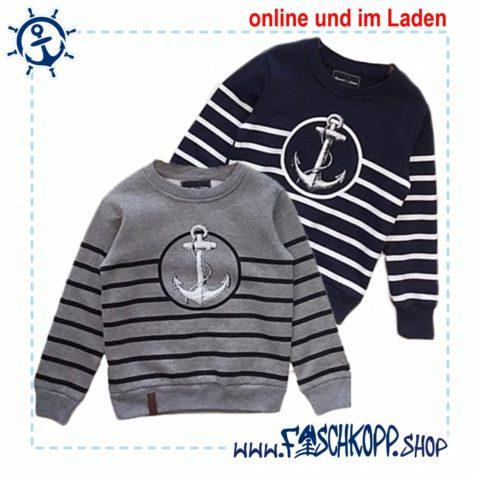 Kinder Sweat Sweatshirt Grau Anker Fischkopp Varianten