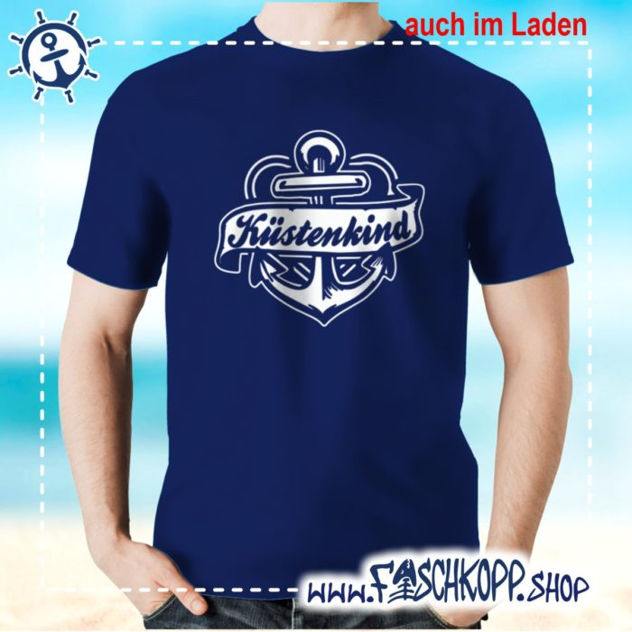 T-Shirt Kuestenkind navy