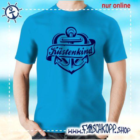 T-Shirt Kuestenkind atoll-blau