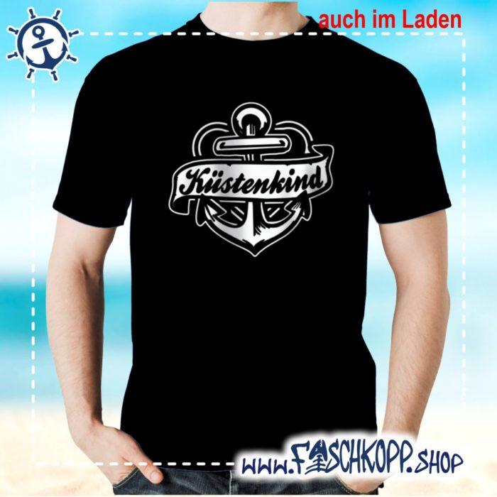 T-Shirt Kuestenkind schwarz