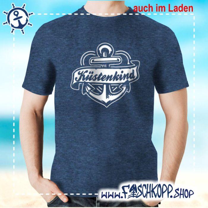 T-Shirt Kuestenkind navy meliert
