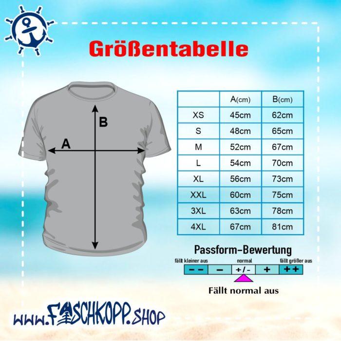 T-Shirt Fischkopp Groessentabelle