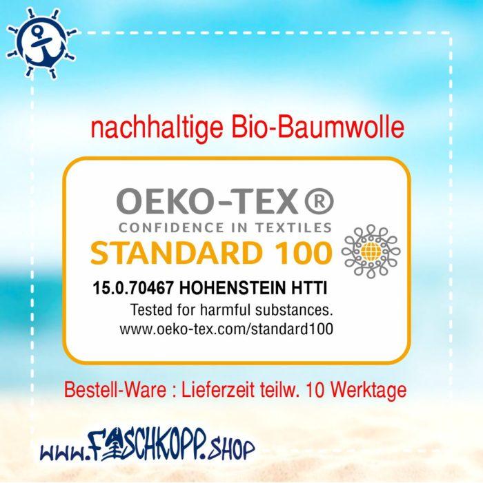 Kapuzen-Shirt Moin-Anker-Küstenkind Shirt schwarz Druck blau-lila oeko tex