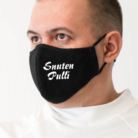 Maske m schwarz Snuten-Pulli weiß