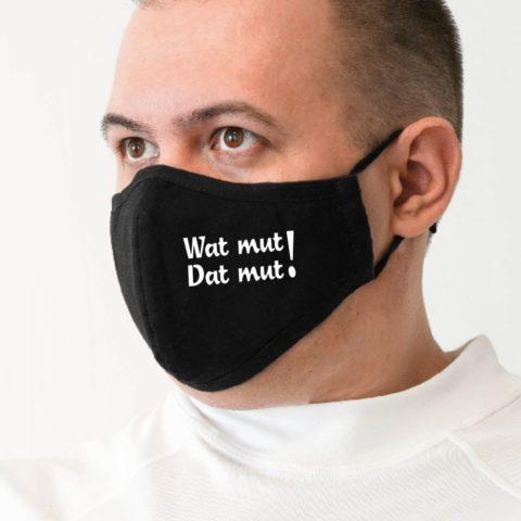 Maske m schwarz Wat mut-Dat mut weiß