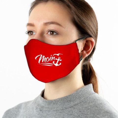 Maske rot Moin weiß