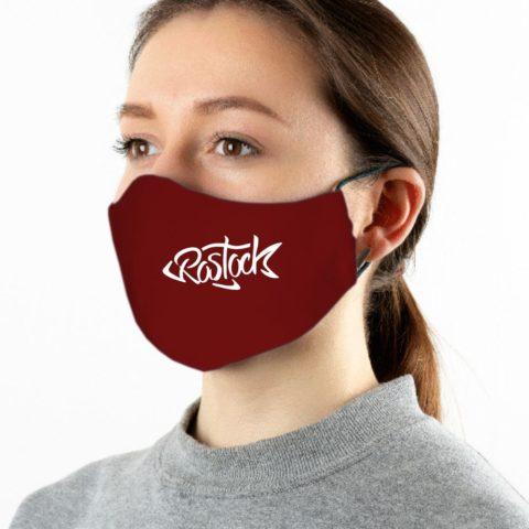 Maske weinrot Rostock weiß