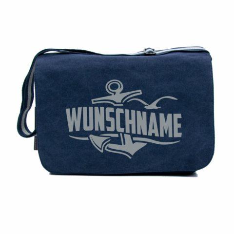 Laptoptaschen-QD610-wunschname-navy